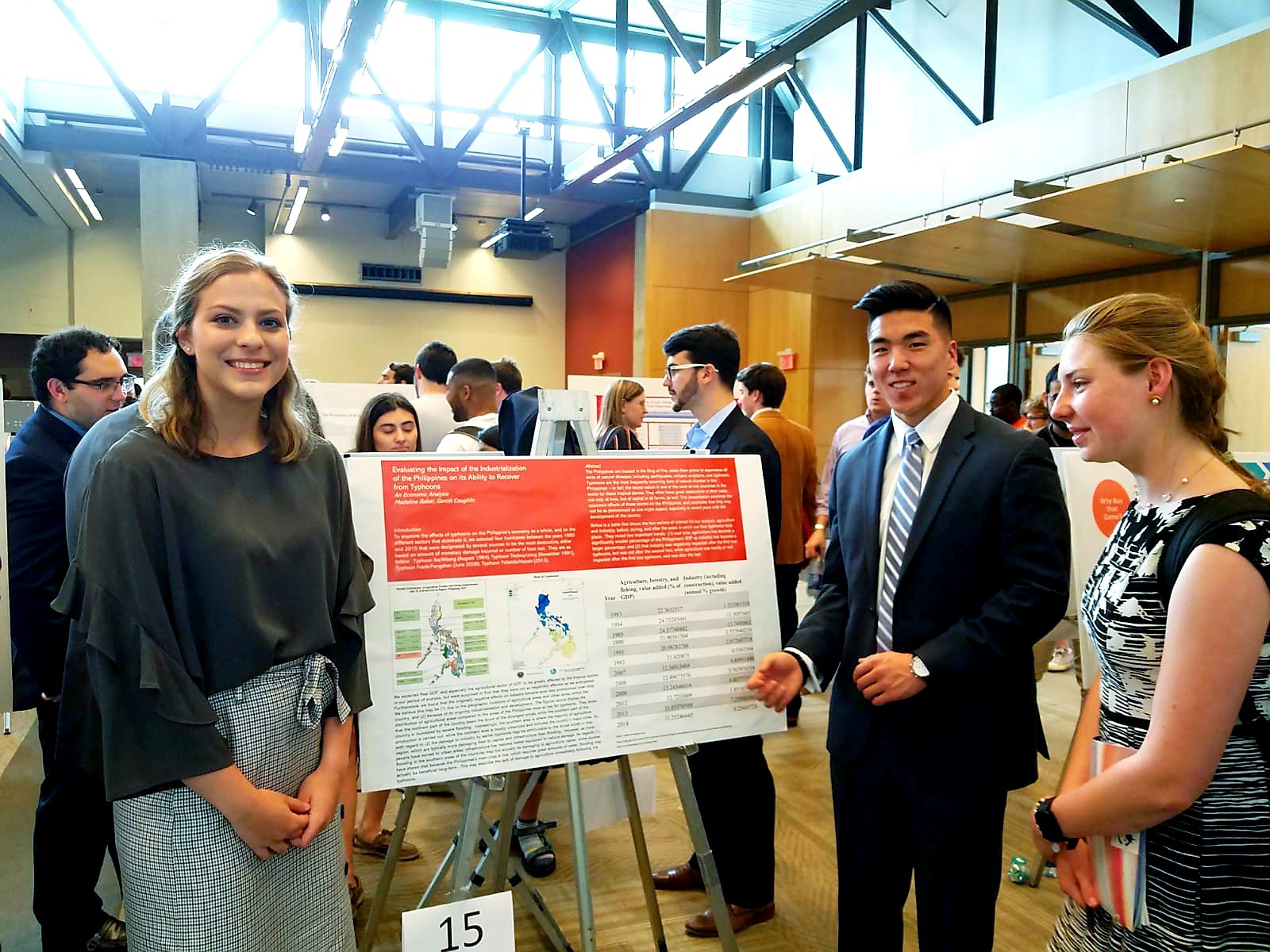 Strong Participation by Economics Students in University Research Day