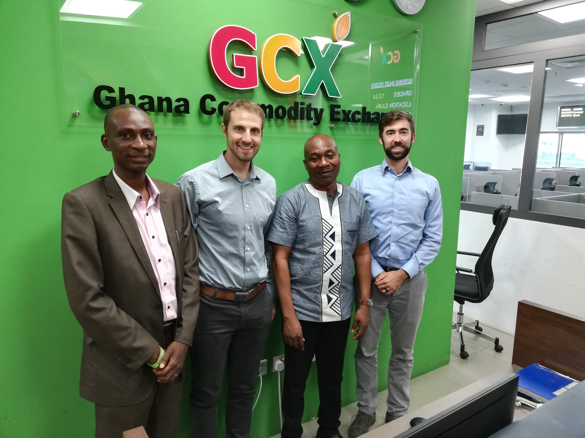 Dr. Gallenstein at Ghana Commodity Exchange